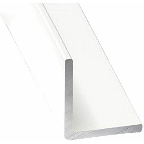 Perfil de Aluminio Blanco Angular - x3 unds - 2'10m