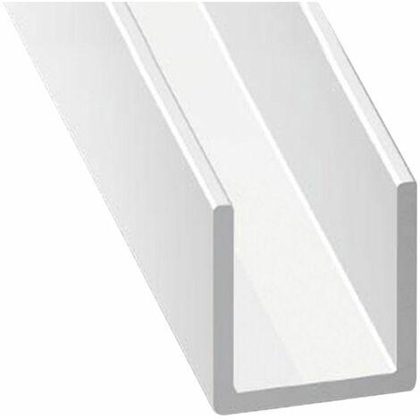 Perfil de Aluminio Blanco en U - x3 unds - 2'10m