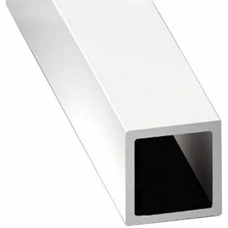 Perfil de Aluminio Blanco - Tubo cuadrado - x3 unds - 2'10m