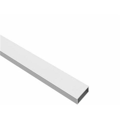 Perfil de Aluminio Blanco - Tubo rectangular - x3 unds - 2'10m