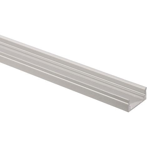 Perfil de Aluminio de Superficie 1m para Tiras LED