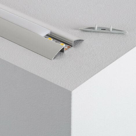 Perfil de Aluminio de Superficie Semicircular 1m para Tira LED