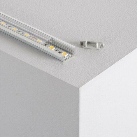 """main image of """"Perfil de Aluminio Empotrado con Tapa Continua para Tiras LED a Medida"""""""
