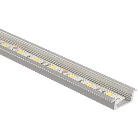 Perfil de Aluminio Empotrado 1m para Tiras LED