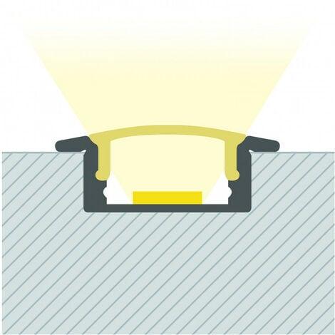 Perfil de Aluminio Empotrado con Tapa Continua para Tiras LED a Medida