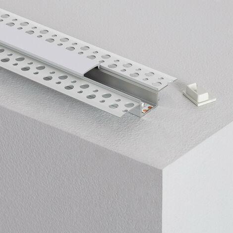 Perfil de Aluminio Empotrado en Escayola / Pladur para Tira LED hasta 15 mm 6m - 6m