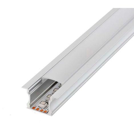 Perfil de Aluminio High para Empotrar 12V/24V 2 metros | IluminaShop