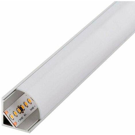 Perfil de aluminio L para Esquinas 12V/24V 2 metros Opal | IluminaShop