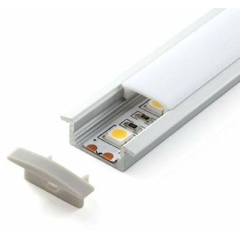 Perfil de Aluminio para Empotrar con alas 12V/24V 2 metros Opal | IluminaShop