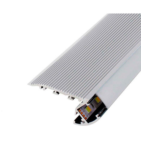 Perfil de aluminio para Escaleras 12/24V 2 metros Opal | IluminaShop