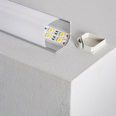 Perfil de Aluminio para Esquinas Redondo 1m para Tira LED