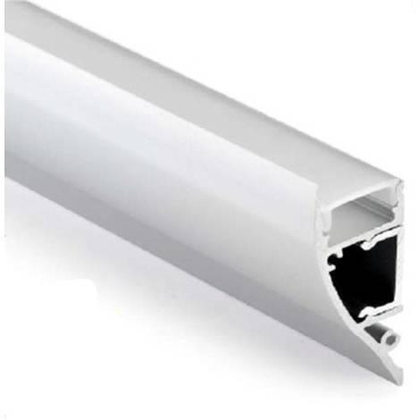 Perfil de aluminio para tira LED bañador de pared 18x44mm (2mt)