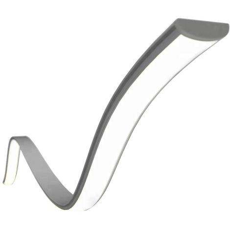 Perfil de aluminio para tira led flexible moldeable 18x6 superficie (2metros)