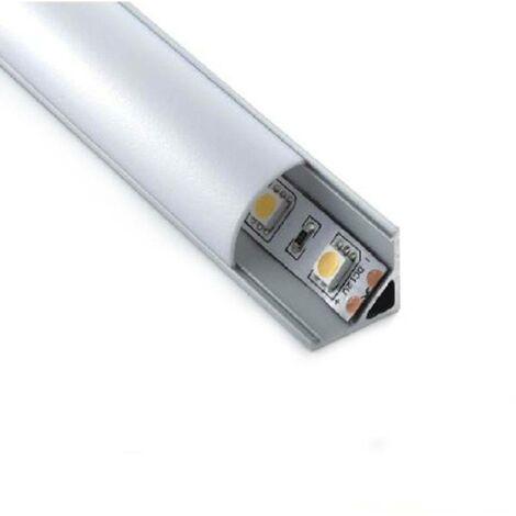Perfil de aluminio para tira led superficie 16x16mm para rincón
