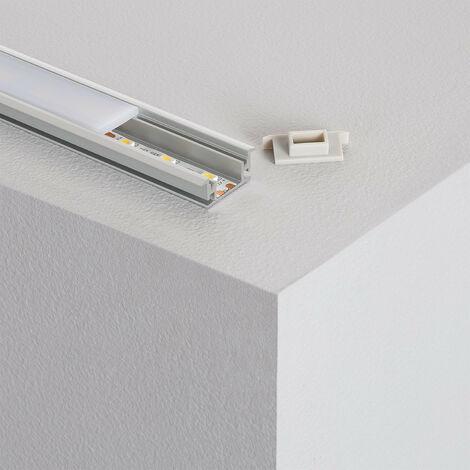 Perfil de Aluminio Pisable para Suelo 1m para Tiras LED hasta 12 mm Aluminio - Aluminio