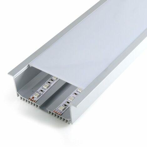 Perfil de aluminio SantGo para Empotrar 12V/24V/220V 2 metros | IluminaShop