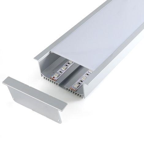 Perfil de aluminio SantGo para empotrar 2 metros 12V/24V/220V