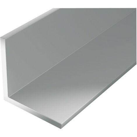 Perfil de ángulo de aluminio 1000/30x30mm plata