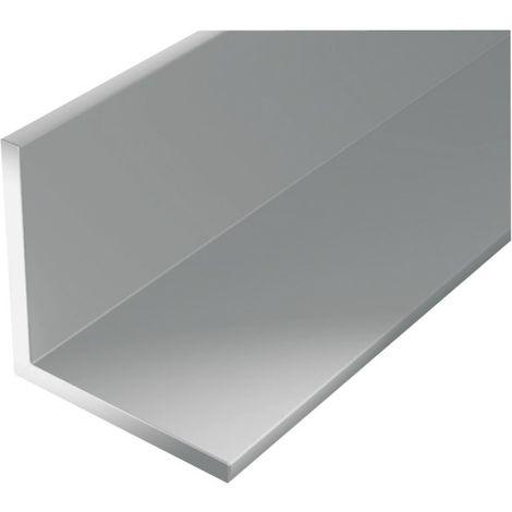 Perfil de ángulo de aluminio 2000/30x30mm plata