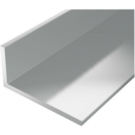 Perfil de ángulo de aluminio 2000/40x20mm plata