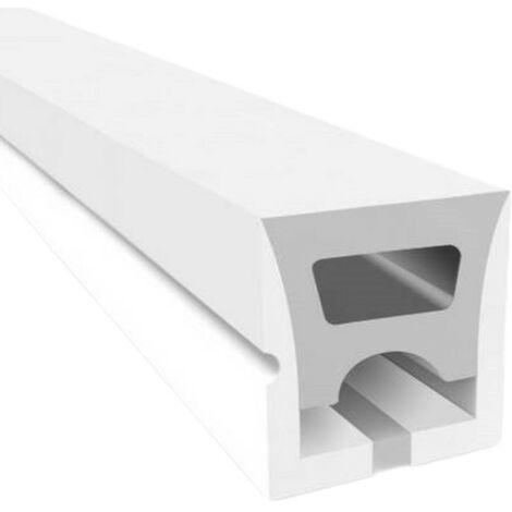 Perfil de silicona flexible 16x16mm para convertir tira LED a neón (5metros)