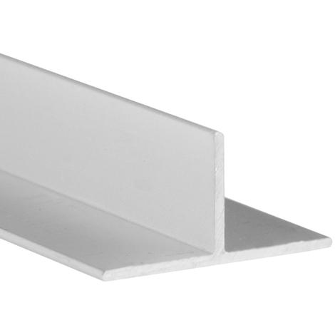 Perfil en T de aluminio, acabado en anodizado mate y 1000 mm de largo. Ref. 9007.2020.63