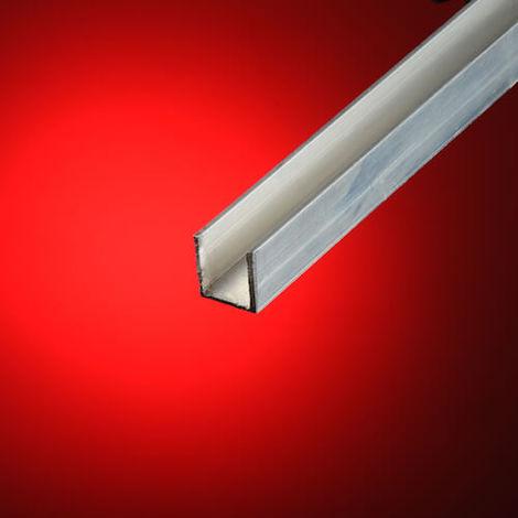 Perfil en u aluminio 15x15