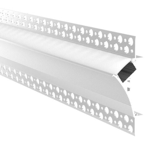 Perfil para tira LED de integración Escayola/Pladur 96x35 Trimless Esquina de Abajo/Arriba (2m)
