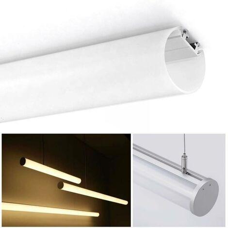Perfil para tira led de Suspensión o Superficie 23X8mm para tiras LED (2m)