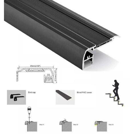 Perfil para tira LED para Escaleras 65X27.5mm (2m)
