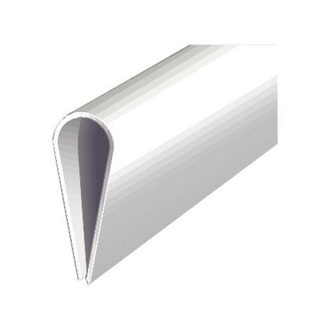 Perfil plástico 1000/15mm blanco