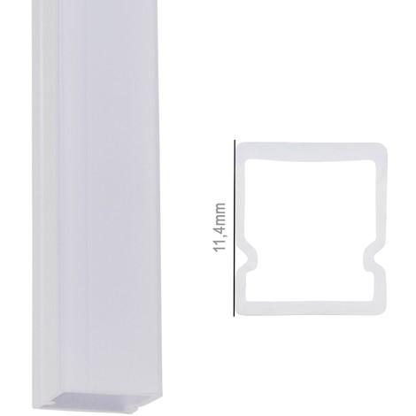 Perfíl Policarbonato para Tira LED IP68 - Difusor Opal SU-IP001 x 2M (SU-IP001)