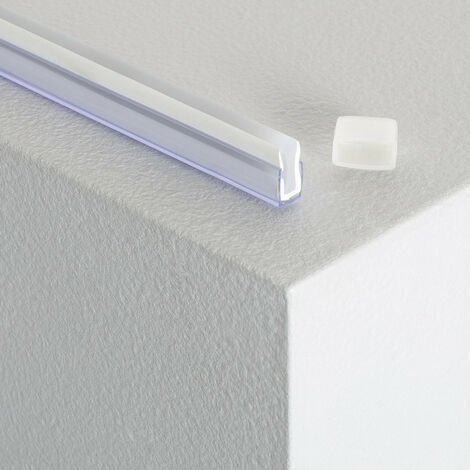 Perfil Policarbonato para Tiras Neón LED 24V TransparenteTransparente - TransparenteTransparente