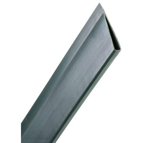 PERFIL REMATE U CAÑIZO PVC 1.5M VERDE Verde