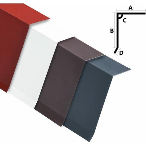 Perfiles de borde tejado en L 5 uds aluminio antracita 170 cm