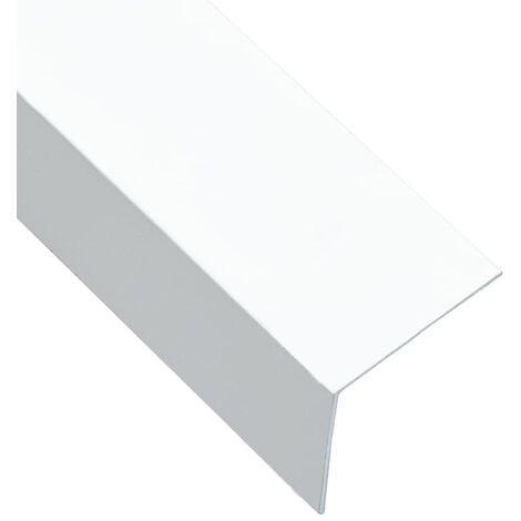 Perfiles en forma de L 90° 5 uds aluminio blanco 170 cm 30x30mm