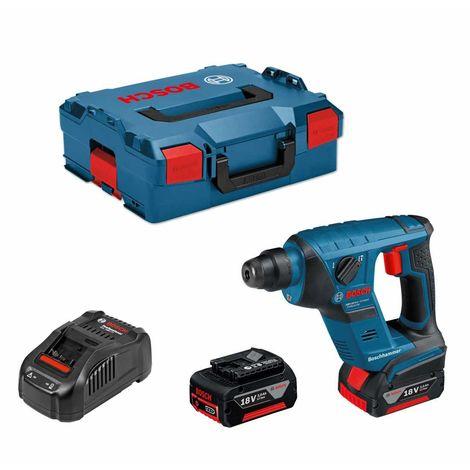 Perforateur BOSCH GBH 18 V-LI Compact (2 x 3,0 Ah + GAL1880CV + L-Boxx 136)