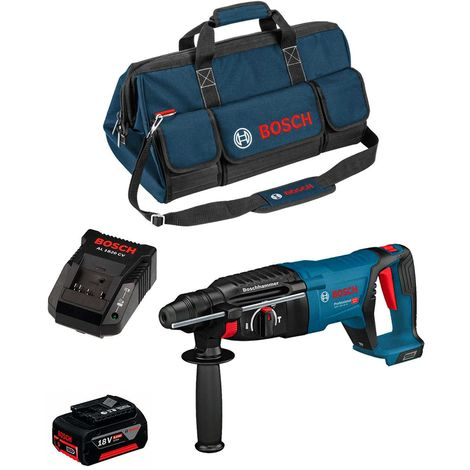 Perforateur BOSCH GBH 18V-26 D (1 x 6,0 Ah AL1820CV HD Bag)