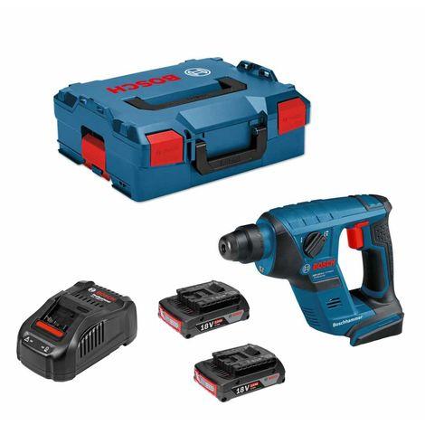 Perforateur BOSCH GBH 18V-LI Compact (2 x 2,0 Ah GAL1880CVL-Boxx 136)