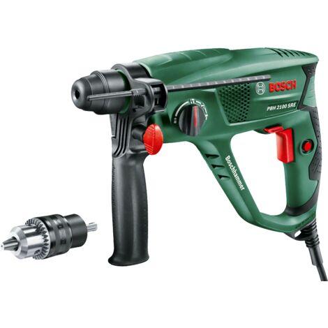 Perforateur Bosch - PBH 2100 SRE (550W, livré avec coffret, mandrin et butée de profondeur)