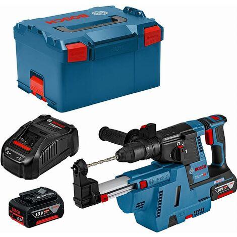 Perforateur burineur GBH 18 V-26 F + chargeur GDE 18V-16 + 2 Batteries 6.0Ah AL 1880CV BOSCH - 0611910004