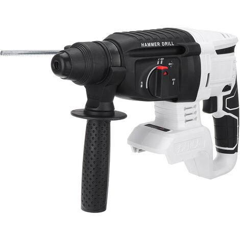 Perforateur - Burineur Marteau électrique sans brosse blanc pour batterie Makita 18V (blanc, sans Batterie)