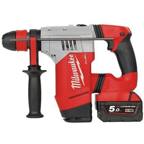 Perforateur-burineur MILWAUKEE M18 CHPX-502X SDS-Plus - 2 Batteries 5.0Ah 18V, chargeur, coffret, mandrin - 4933451380