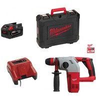 Perforateur burineur sans fil 2.8j 1400tr/mn SDS avec valise + batterie 28V 5Ah et chargeur HD28 HX-0X MILWAUKEE 4933432136