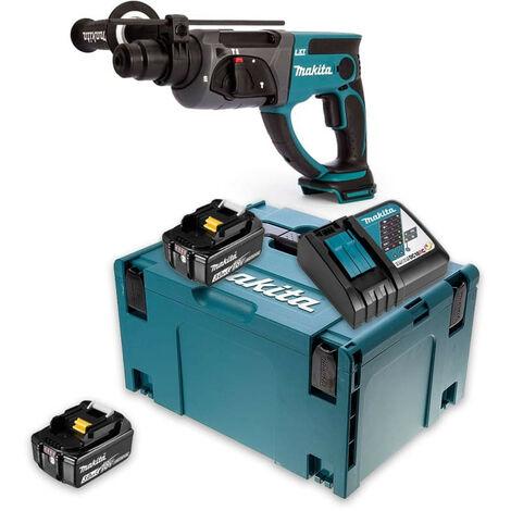 Perforateur burineur SDS-Plus 18V (2x3,0 Ah) dans Makpac - MAKITA DHR202RFJ