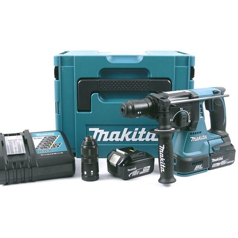 Perforateur-burineur SDS-Plus 18V Li-Ion BL (2x5,0 Ah) dans coffret Makpac - MAKITA DHR243RTJ