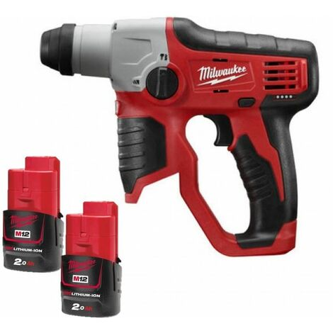 Perforateur MILWAUKEE M12H-202C SDS-Plus 12V + 2 batteries 2.0Ah, chargeur, en coffret Kitbox - 4933431340