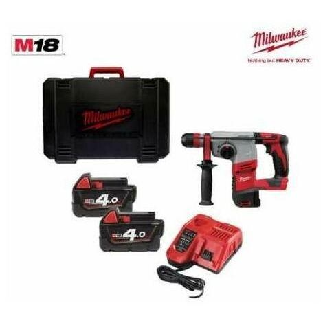 Perforateur MILWAUKEE SDS+ Fixtec 2,4J EPTA, 18V, 2 batteries 4Ah, chargeur, en coffret - HD18 HX-402C