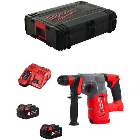 Perforateur MILWAUKEE SDS-PLUS M18 CHX - 2 batteries 18V 5.0Ah, chargeur, en coffret HD Box – M18CHX-502X