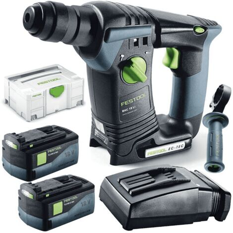 Perforateur sans fil BHC 18 Li 5,2-Plus FESTOOL + chargeur + 2 batteries